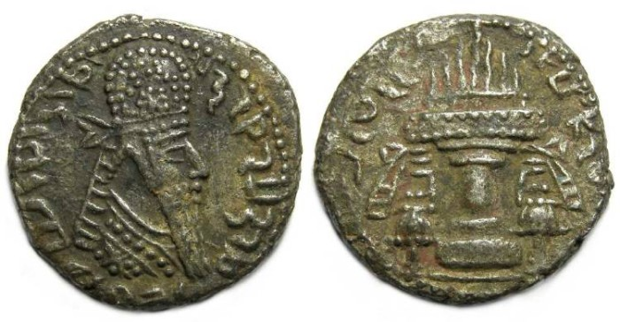 Ancient Coins - Sassanian. Ardeshir I, AD 226 to 240. Billon tetradrachm.