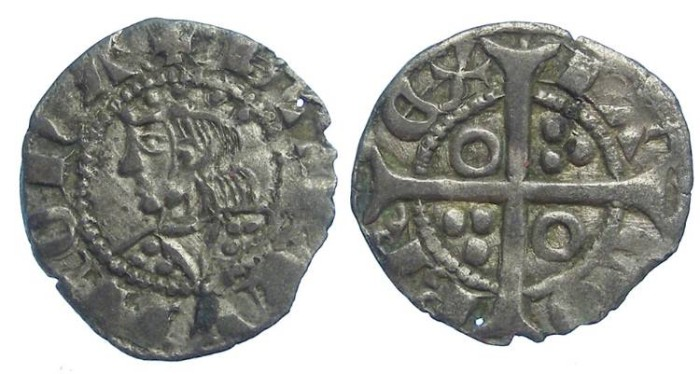 Ancient Coins - Spain, Aragon. Jaime II, AD 1295 to 1325. Billon Dinero.