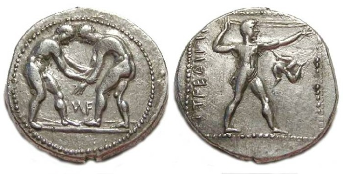 Ancient Coins - Aspendos in Pamphylia. ca. 370 to 333 BC. Silver stater