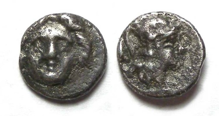 Ancient Coins - Selge in Pisidia. 3rd century BC. Silver Trihemiobol.