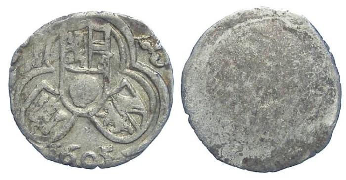 World Coins - Austria, Salzburg. Wolf Dietrich Von Raitenau, 1587 to 1612. Silver Zweier. Dated 1605.
