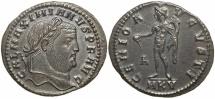 Galerius, as Augustus, AD 305 to 311. Bronze follis.