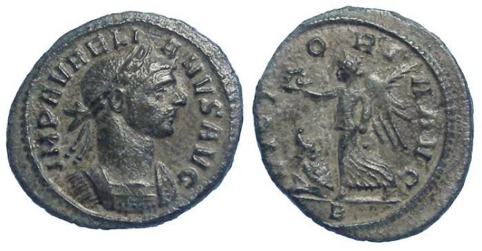 Ancient Coins - Aurelian, AD 270-275. Bronze denarius.