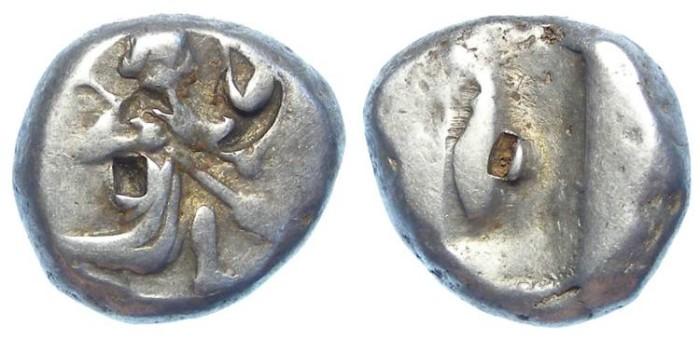 Ancient Coins - Royal Persian Coinage. ca. 485 to 420 BC. Silver Siglos.