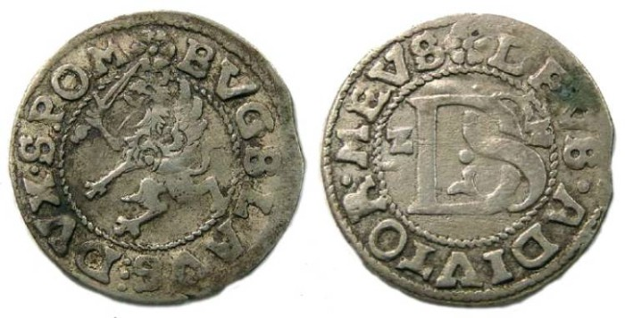 Ancient Coins - Pomerania.  Bogislaus 14th, AD 1622-1637 (dated 1622), Silver Shilling.