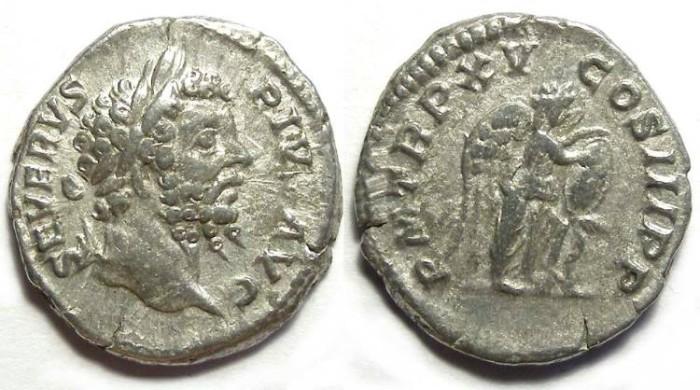 Ancient Coins - Septimius Severus, AD 193 - 211, Silver denarius
