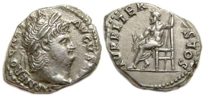 Ancient Coins - Nero. AD 54 to 68. Silver denarius