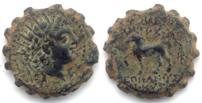 Ancient Coins - Seleukid. Antiochos VI, 145 to 142 BC. AE 15