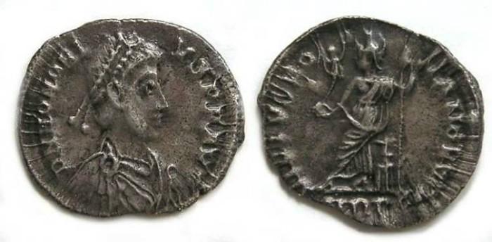 Ancient Coins - Honorius. AD 393 to 423. Silver Siliqua.