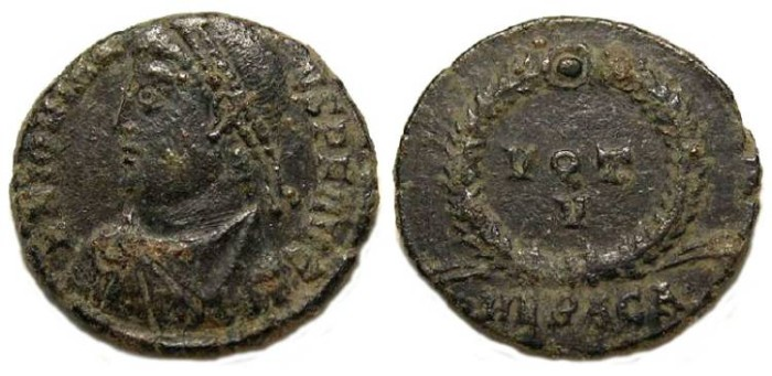Ancient Coins - Jovian, AD 363-364. AE-3