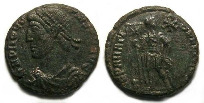 Ancient Coins - Procopius, AD 365 to 366. AE 3.