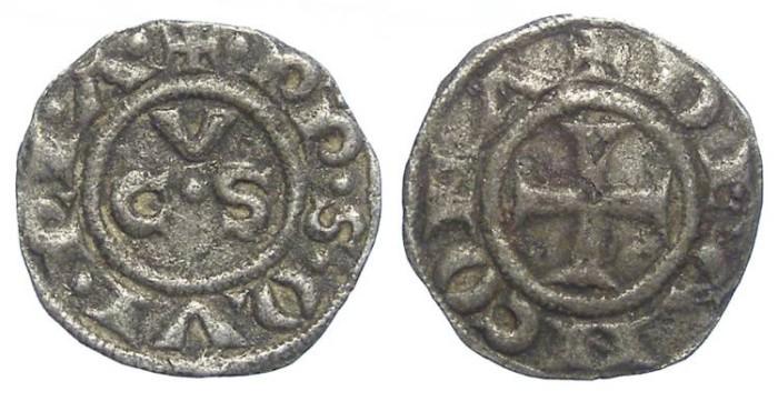 Ancient Coins - Italy, Ancona. 13th to 15th century Anonymous billon denaro.