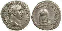Ancient Coins - VITELLIUS. AD 69. SILVER DENARIUS.
