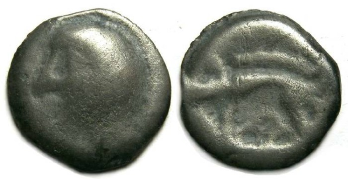 Ancient Coins - Celtic, Gaul. Leuci Tribe (?). ca. 75 to 50 BC. Cast potin.