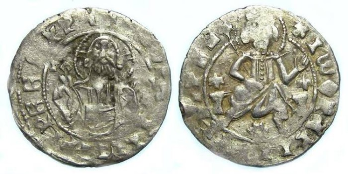 Ancient Coins - Bulgaria. Ivan Stracimir. AD 1358 to 1396. Silver Grosh. - very clear face on Christ.