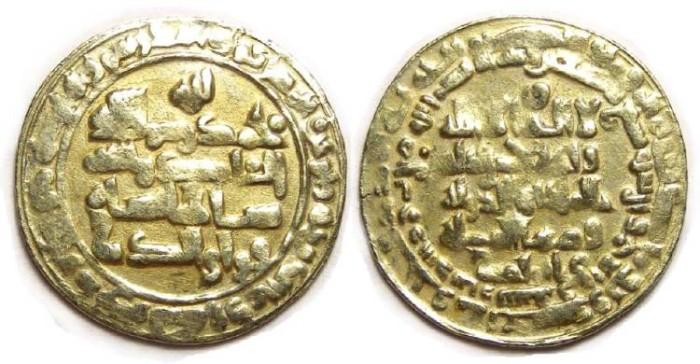 Ancient Coins - Buwayhid.  Baha' al-Dawla, AD 989 to 1012. Gold Dinar