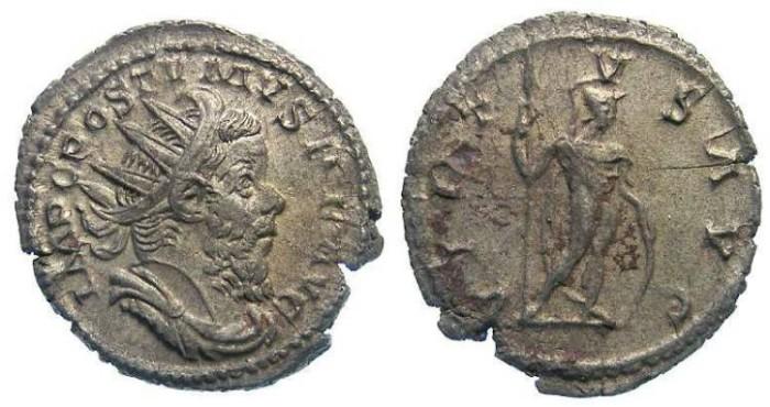 Ancient Coins - Postumus, AD 259-268. Billon Antoninianus.