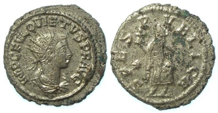Ancient Coins - Quietus, AD 260 to 261. Billon Antoninianus.