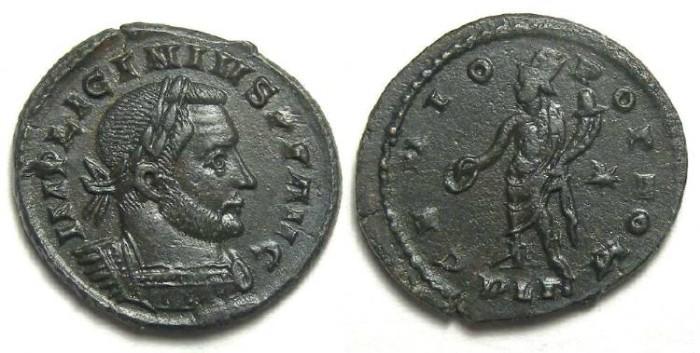 Ancient Coins - Licinius I, AD 308-324. Bronze follis.  LONDON MINT.