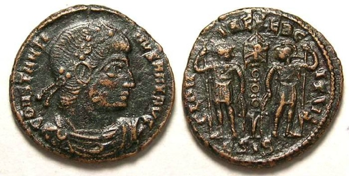Ancient Coins - Constantine I, AD 307 to 337. AE-3/4
