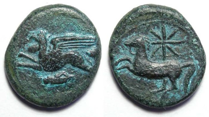 Ancient Coins - Kainon in Sicily. ca. 360 to 340 BC. AE 22.