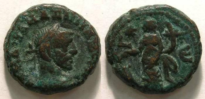 Ancient Coins - Maximianus, AD 286-305.  Alexandrian Potin tetradrachm.