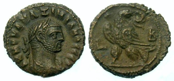 Ancient Coins - Maximianus, AD 286 to 310, Alexandrian Potin tetradrachm.