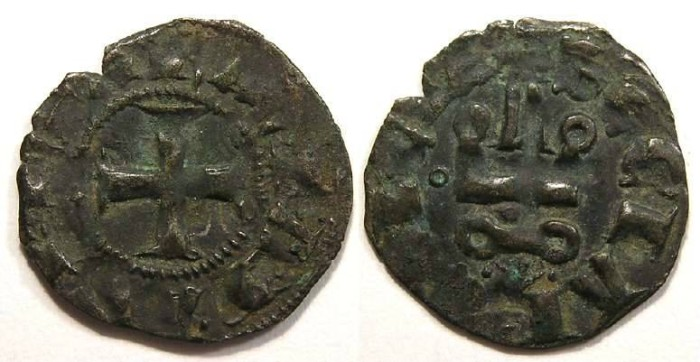 Ancient Coins - Crusaders in Frankish Greece, Achaea, Maud of Hainaut, AD 1316-1318