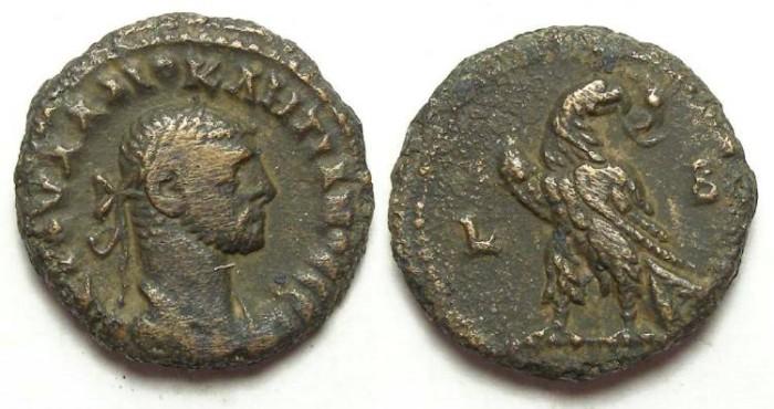 Ancient Coins - Alexandria, Diocletian, AD 284 to 305, potin tetradrachm.