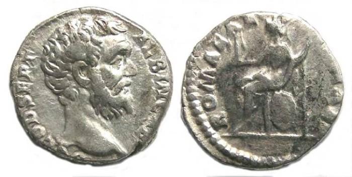 Ancient Coins - Clodius Albinus as Caesar, AD 193-195.