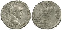 Ancient Coins - VESPASIAN. AD 69 TO 79.  SILVER DENARIUS. EPHESUS MINT.