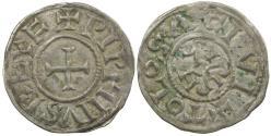 World Coins - Carolingian, Pepin II as King of Aquitaine, Denier, AD 839 to 852.