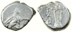 Ancient Coins - Teos in Ionia. ca. 320 to 294 BC. Silver Diobol