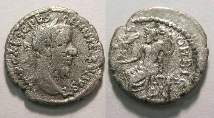 Ancient Coins - Pescennius Niger, AD 193-194. Silver denarius