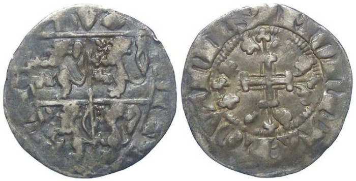 Ancient Coins - Low countries. Brabant. Jean III, AD 1312 to 1355. Silver Esterlin.