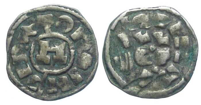 Ancient Coins - ITALY. Lucca. Henry III to V, AD 1035 to 1125. AR denaro. Heavy specimen.