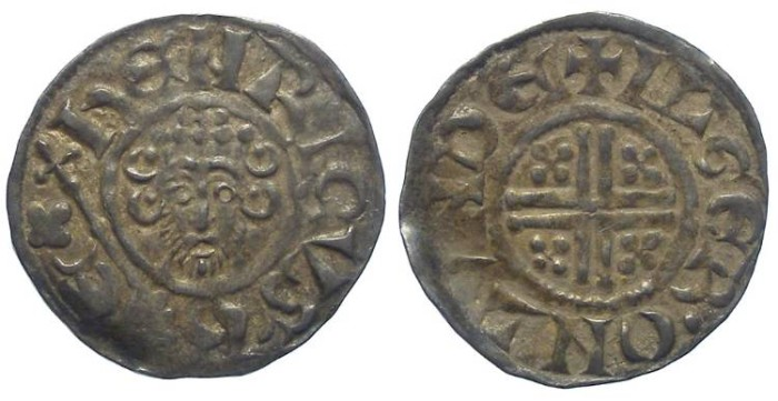 Ancient Coins - English, John, AD 1199 to 1216. Silver penny.