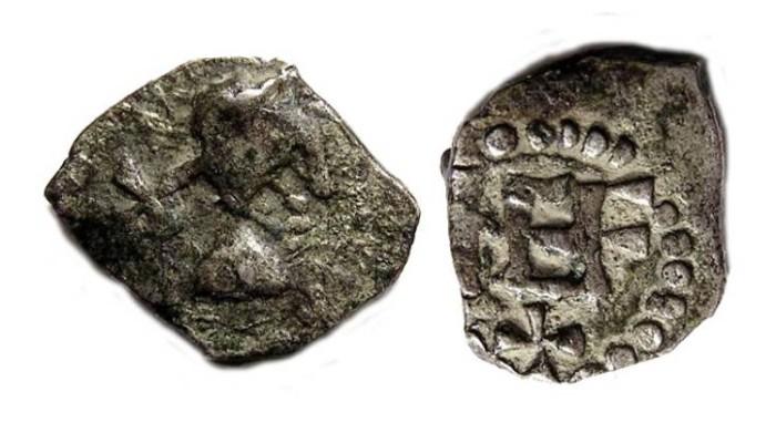 Ancient Coins - Merovingian.  Patrician Nemafidius, ca. AD 710.  Silver denier.