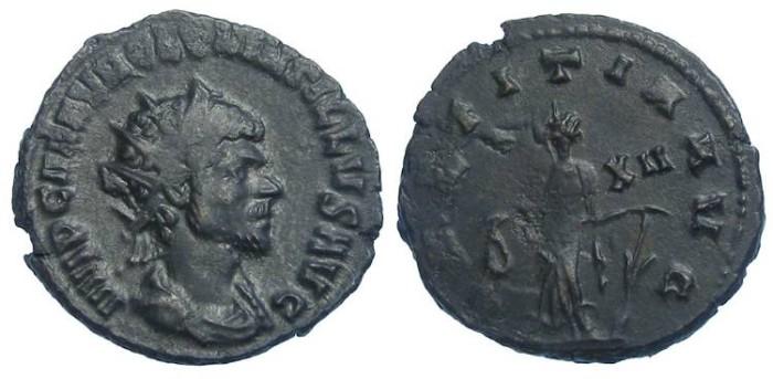 Ancient Coins - Quintillus, AD 270. AE Antoninianus.