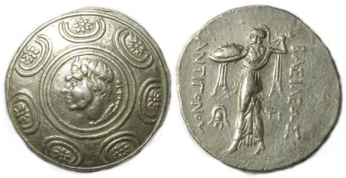 Ancient Coins - Macedonian Kingdom, Antigonos Gonatas, 277 to 239 BC. Silver tetradrachm.
