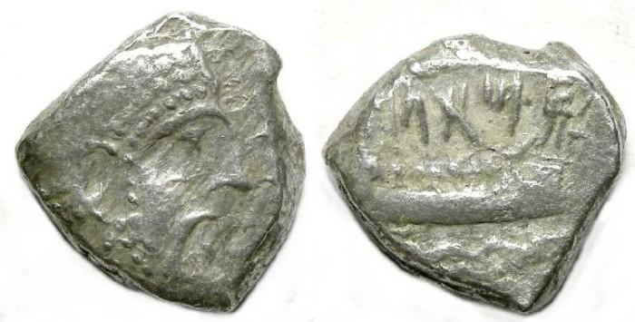 Ancient Coins - Phoenicia, Arados. ca. 400 BC. Silver dishekel.