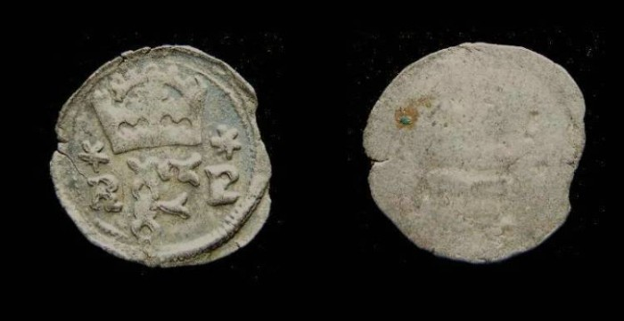 Ancient Coins - Bohemia. Ferdinand I, AD 1526 to 1654. Billon pfennig.