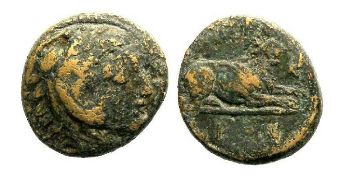 Ancient Coins - Macedonian Kingdom, Kassander, 319 to 307 BC. AE 16.