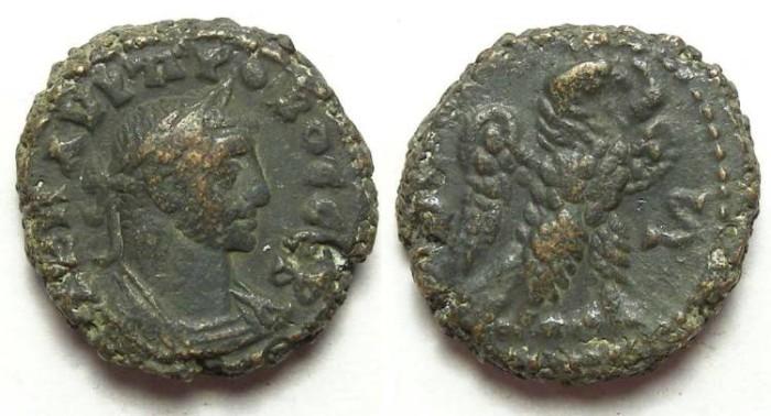Ancient Coins - Alexandria, Probus, AD 276 to 282, Yr-6  potin tetradrachm. 19 mm.