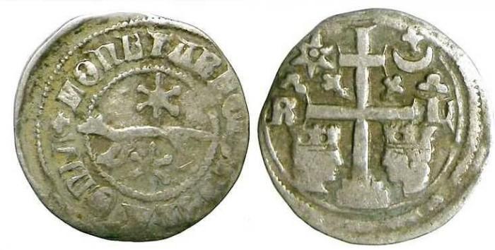 Ancient Coins - Slavonia. Ladislaus IV, AD 1272 to 1290. Silver denar.