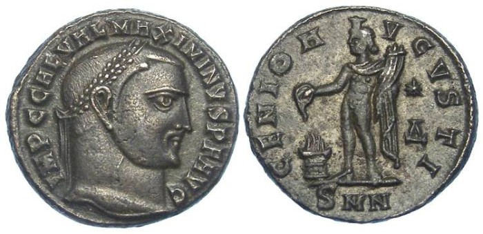 Ancient Coins - Maximinus II, as Augustus, AD 309-313. Bronze follis.