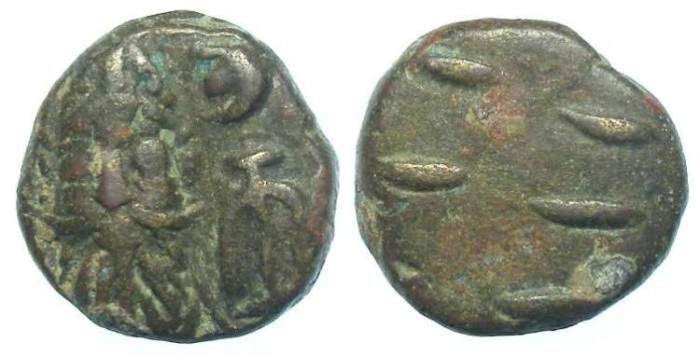 Ancient Coins - Elymaids. Kamnaskir - Orodes III, 2nd century AD. Bronze drachm.