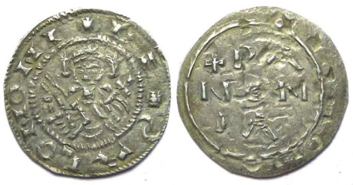 Ancient Coins - Hungary. Salomon. AD 1063 to 1074. Silver Denar.