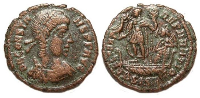 Ancient Coins - Constans. AD 337 to 350. AE 3.