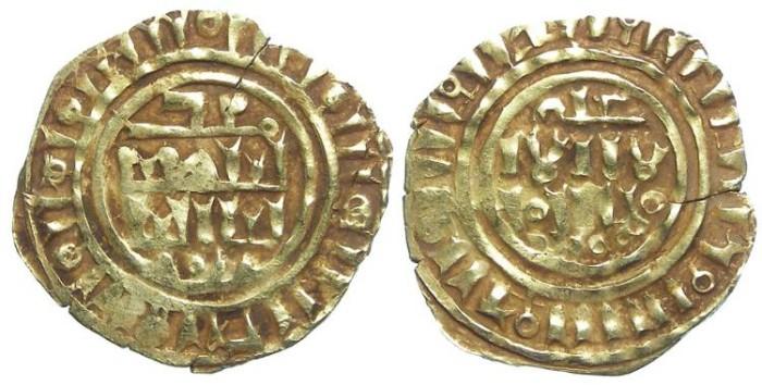 World Coins - Crusaders gold Dinar, imitating Islamic gold. Third phase, after AD 1148.